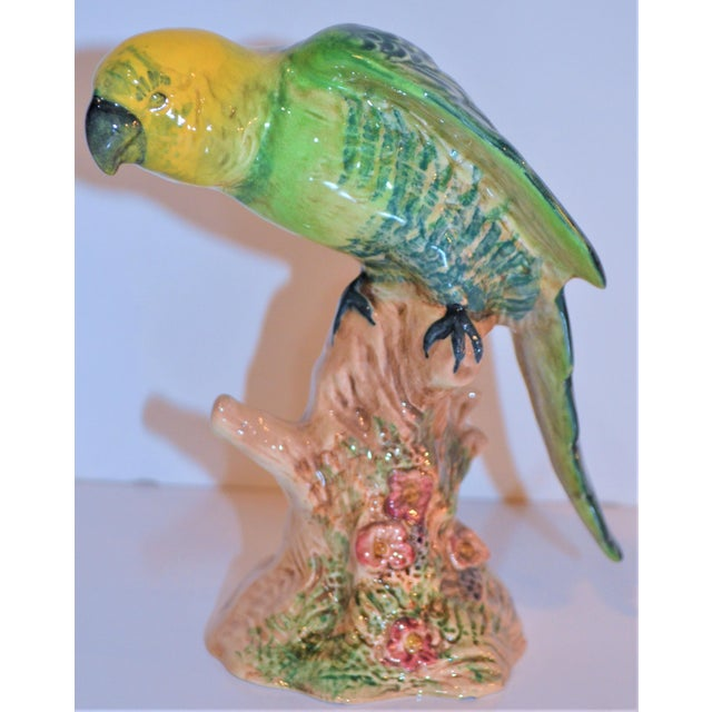 Vintage Beswick English Porcelain Yellow Headed Parrot Figurine For Sale - Image 4 of 7