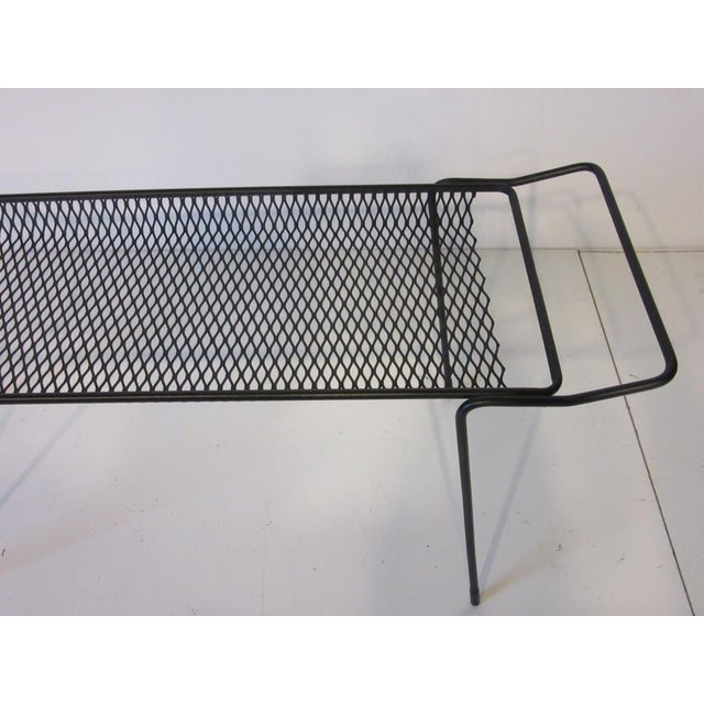 Metal Maurice Ducin Iron Magazine Rack For Sale - Image 7 of 8