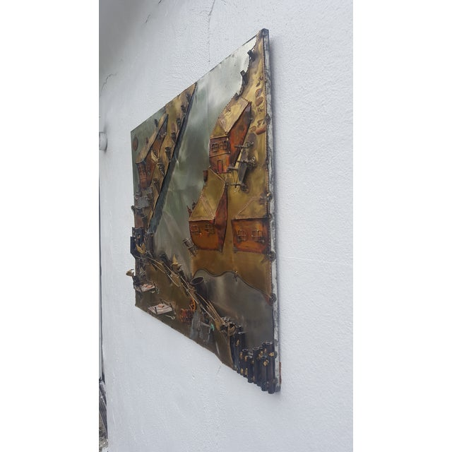 Curtis Jere Style Landscape Abstract Wall Sculpture . - Image 3 of 11
