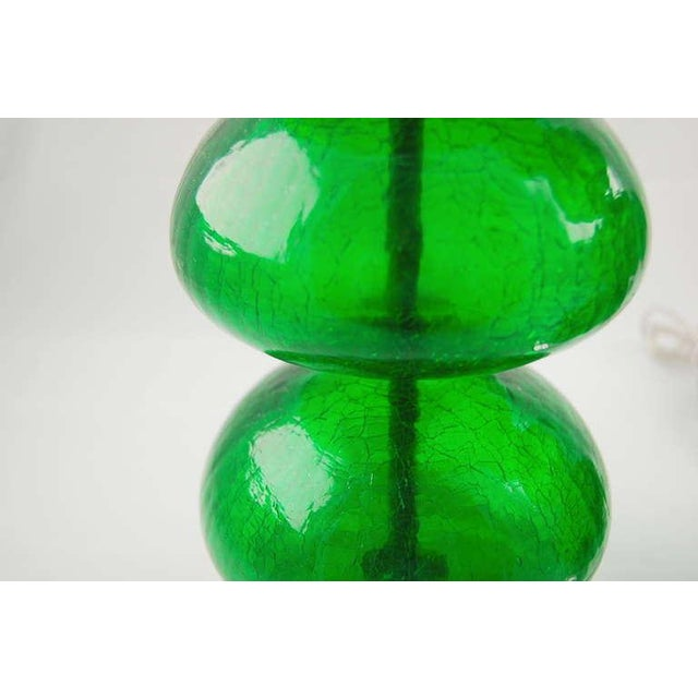 Vintage Murano Stacked Font Glass Table Lamps Green For Sale In Little Rock - Image 6 of 7