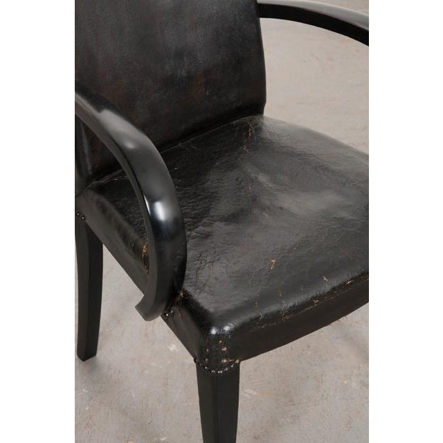 Black French 20th Century Art Deco Ebony Armchairs - a Pair For Sale - Image 8 of 10