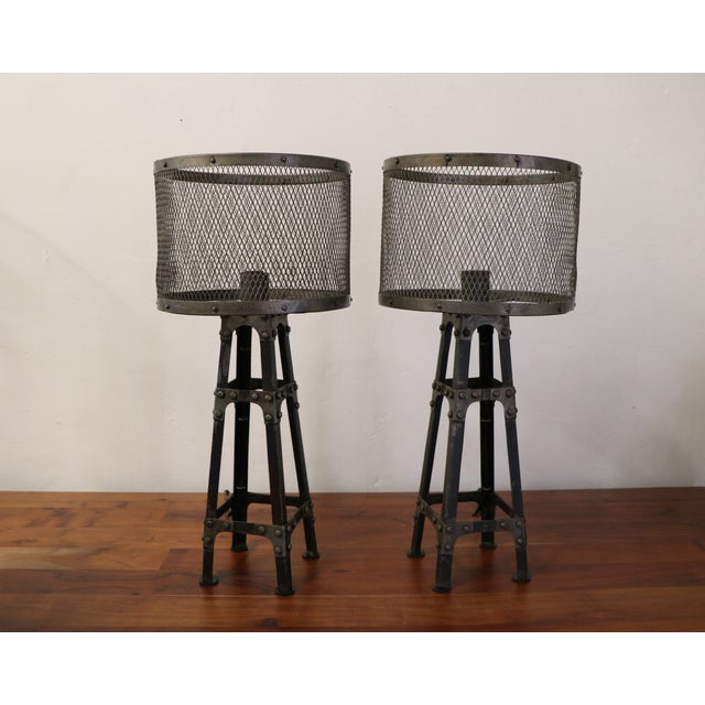 Industrial Table Lamps - Pair - Image 2 of 6
