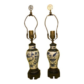 19th Century Meiping Blue/White Vases - a Pair For Sale