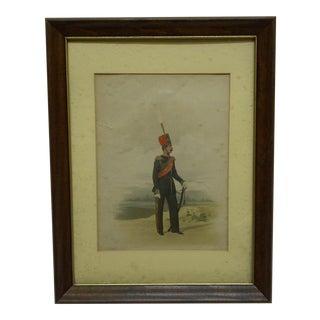 """Vintage """"The Soldier"""" Framed & Matted Color Print For Sale"""
