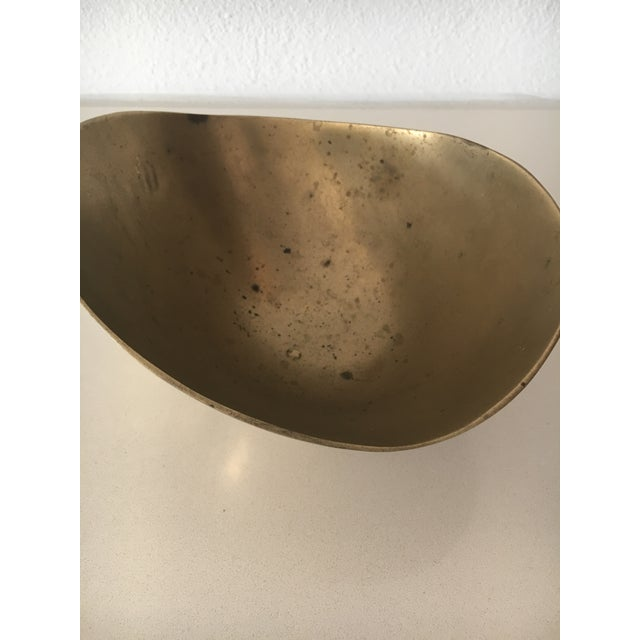 Mid-Century Cuban Brass Bowl For Sale In Los Angeles - Image 6 of 7