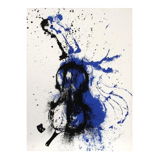 Crossfire, Abstracted Violin Silkscreen by Arman