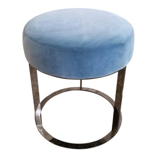 B&B Italia Frank Ottoman in Turquoise Blue For Sale