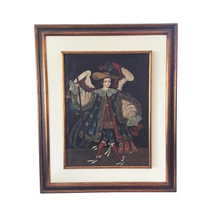 Spanish Colonial Oil on Canvas For Sale