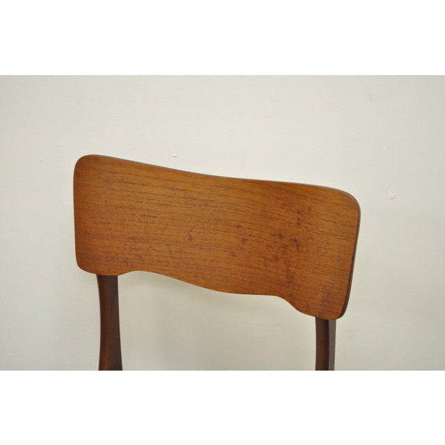 Gustav Bahus Norway Mid Century Danish Modern Teak Ribbon Dining Chairs - Set of 4 - Image 6 of 11