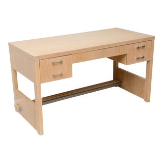 Rare American Modern Cerused Oak Desk by Jay Spectre For Sale