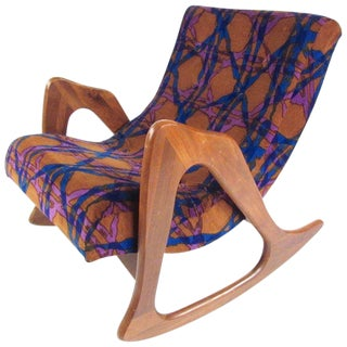 Adrian Pearsall Rocking Chair by Craft Associates For Sale