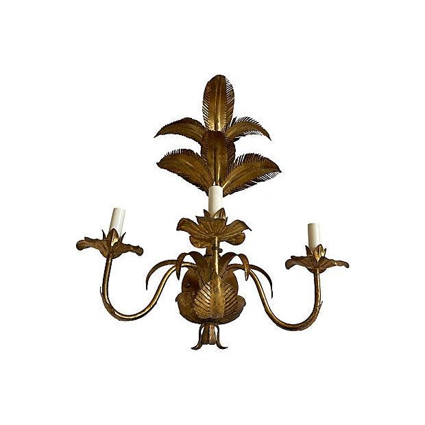 1950s Italian Palm Topiary Wall Light For Sale In Austin - Image 6 of 9