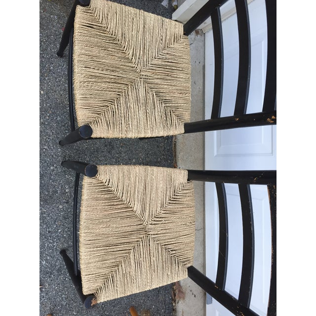 1960s Vintage Mid Century Italian Ladder Back Chair- A Pair For Sale - Image 5 of 11