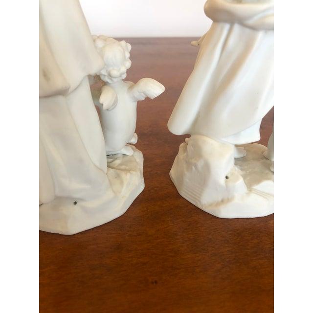 Antique Parian Porcelain Bisque Musician Maidens -Pair For Sale In Philadelphia - Image 6 of 11