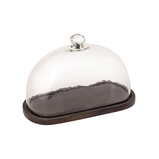 2020s Kenneth Ludwig Chicago Cheese Cloche With Board For Sale - Image 5 of 5