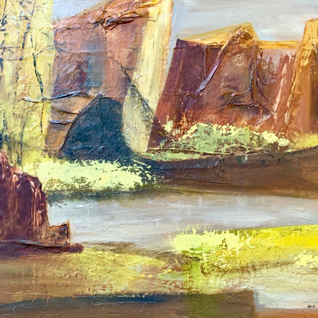 Vintage Mid-Century Nell Hirschkind Landscape Painting For Sale In Sacramento - Image 6 of 12