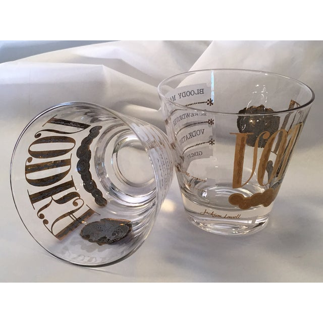 Vintage Jackson Lowell Vodka Glassware Signed - Set of 4 For Sale - Image 7 of 11