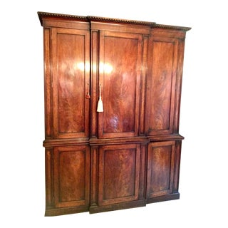 19th C. Irish Mahagony Cabinet For Sale