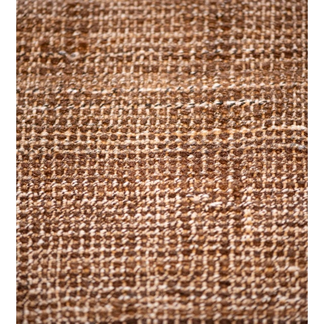 MANSOUR 1980s Handwoven Wool Turkish Flatweave Rug For Sale - Image 4 of 6