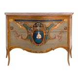 Image of 19th Century Italian Leda Hand Painted Commode For Sale