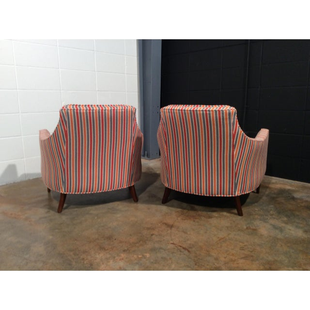 Mid Century Low Back Lounge Chairs - a Pair For Sale In Atlanta - Image 6 of 11