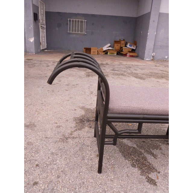 1990's Vintage Post Modern Chinese Chippendale Metal Bench For Sale - Image 9 of 12