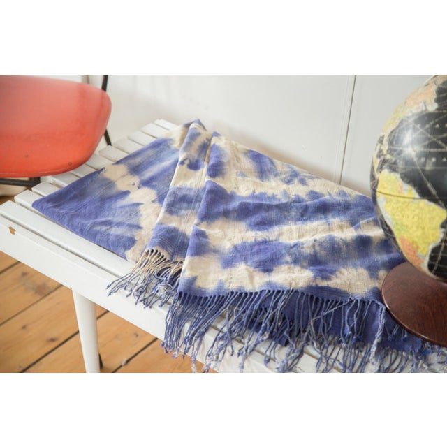 """Vintage African Textile Throw - 3'3"""" X 6'4"""" - Image 6 of 7"""