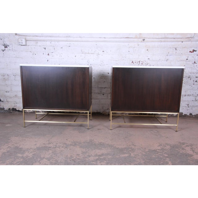 Contemporary Paul McCobb Irwin Collection Mahogany and Brass Sideboard Cabinets (2 Available) For Sale - Image 3 of 13