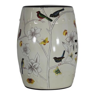 Modern Contemporary Floral Porcelain Garden Stool For Sale