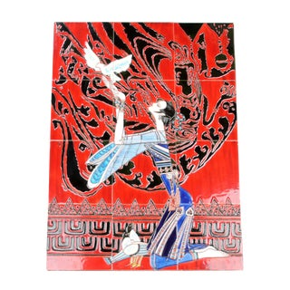 Geisha Tile Wall Art Plaque For Sale