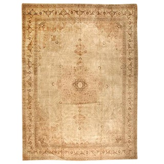 Antique Oversize Persian Tabriz Carpet