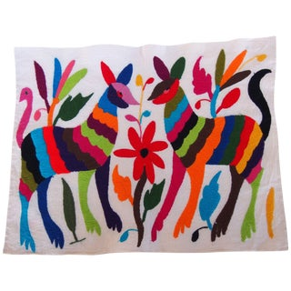 Otomi Embroidered Folk Art - Dogs For Sale