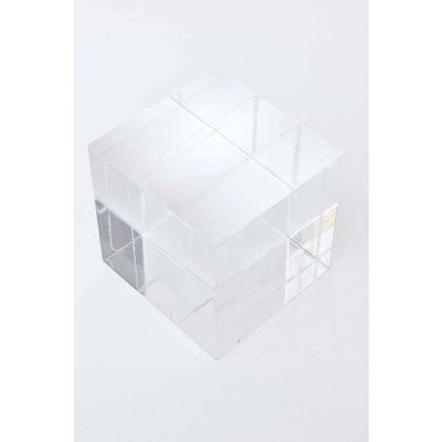 1970s Lucite Square Cube Bookends Vintage 70's Pair Of For Sale - Image 5 of 9