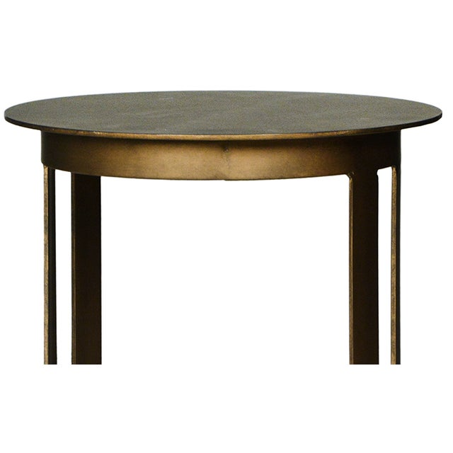 Round Brass End Table - Image 2 of 2