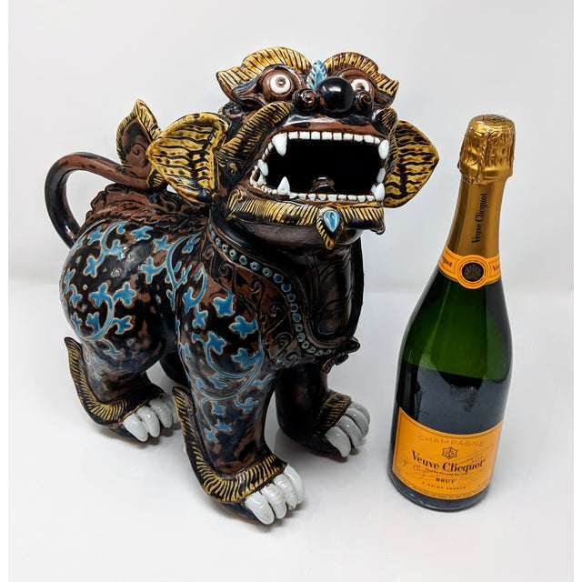This unique Chinese guardian lion or Imperial guardian lion (in the west referred to as Foo Dragons) is a common...