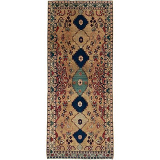 "Vintage Persian Mahal Rug - Size: 3' 7"" X 8' 8"" For Sale"