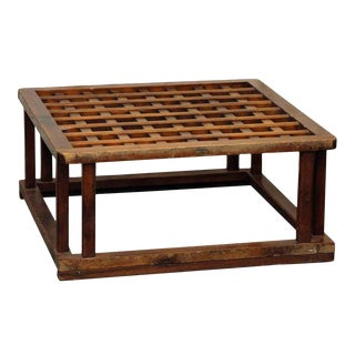 Square Wooden Coffee Table Base For Sale