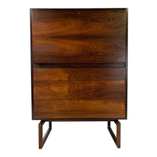1960s Mid-Century Modern Arne Hovmand Olsen for Mogens Kold Mobelfabrik Rosewood Secretary Desk For Sale