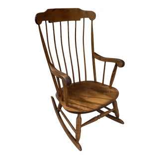 Vintage Nichols and Stone Maple Wooden Rocking Chair For Sale