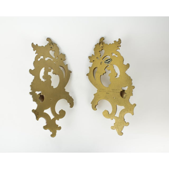 Hollywood Regency Syroco Wood Candle Sconces - a Pair For Sale In New York - Image 6 of 10