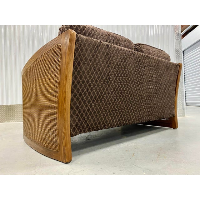 Mid-Century Modern Mid Century Modern Reupholstered Loveseat For Sale - Image 3 of 10