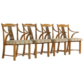 Set of Edward Wormley Greene and Greene Chairs For Sale