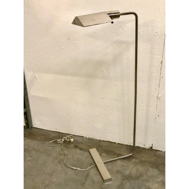Cedric Hartman Style Brushed Chrome Floor Lamps - A Pair - Image 3 of 11