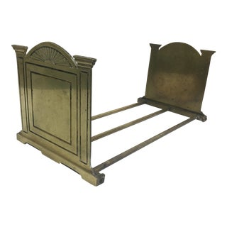 Art Deco Style Adjustable Brass Book Rack For Sale