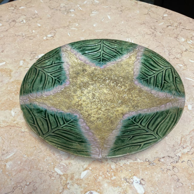 Mid 20th Century Majolica Sea Star Plate For Sale - Image 5 of 7