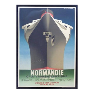 1990s French Normadie Inaugural Poster For Sale