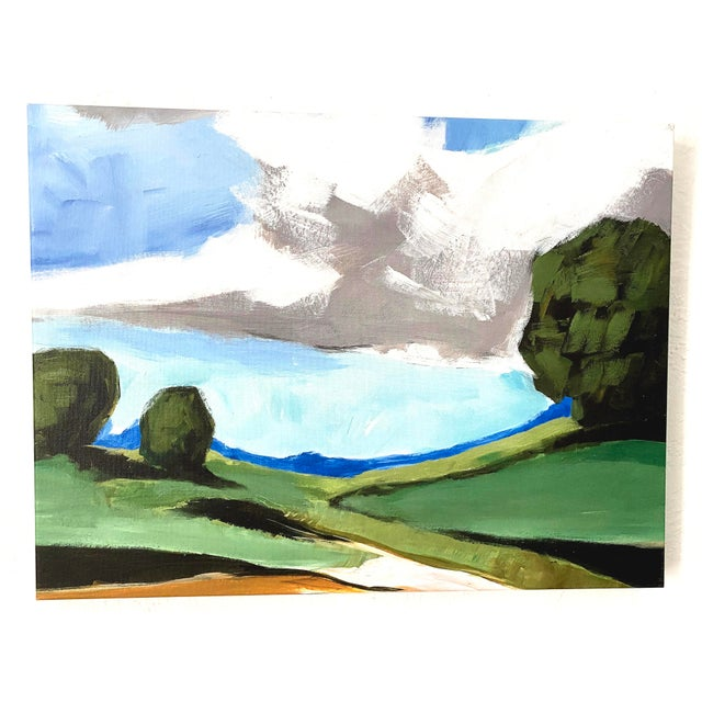 Contemporary Summer Landscape Prints on Canvas - a Pair For Sale - Image 4 of 11