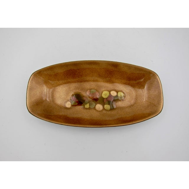 Metal 1970s Three Midcentury Modern Enamel on Copper Trays - Set of 3 For Sale - Image 7 of 13