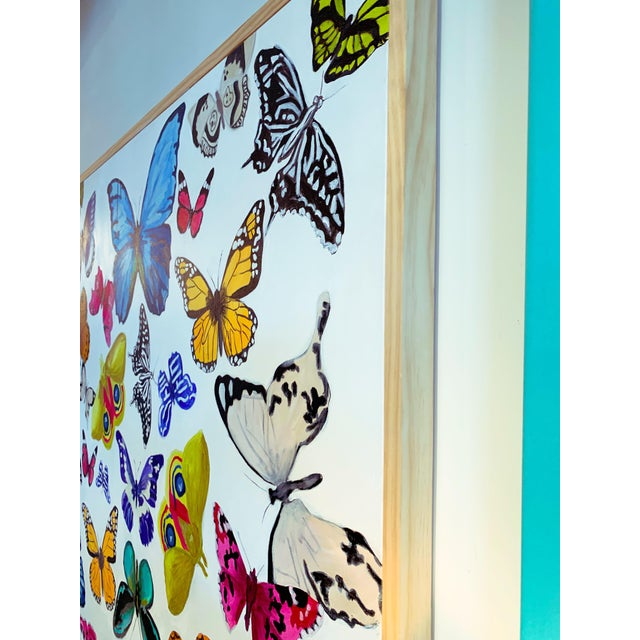 """Contemporary """"Butterflies - a Collection"""" Original Painting For Sale - Image 3 of 5"""