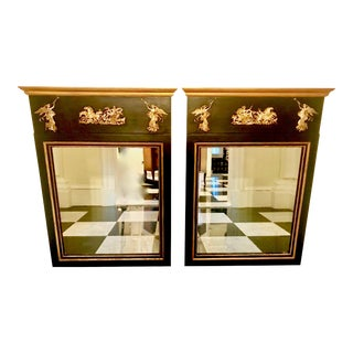 A Pair of Antique Palladio Trumeau Mirrors For Sale